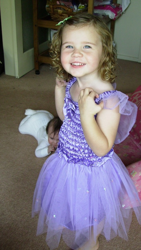 Lilly dressed as a fairy