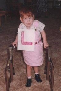 Lizzie Learning to walk at her special needs preschool in Croydon